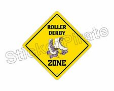 "*Aluminum* Roller Derby Zone Funny Metal Novelty Sign 12""x12"""
