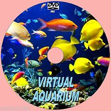VIRTUAL FISH TANK/AQUARIUM DVD10  GREAT SOOTHING SCENES TO VIEW WITH SOUNDS NEW