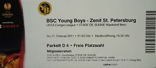 Ticket uefa am 2010/11 YB Bern-Zenit San Petersburgo
