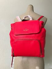 Kate Spade NY Crab Red Soft Leather Cobble Hill Charley Backpack PXRU6010 NWT
