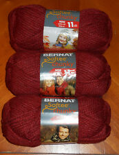 Bernat Softee Chunky Yarn Lot Of 3 Skeins (Redwood #28522)