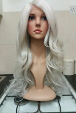 White, Blonde, Silver, Grey human hair wig, lace front