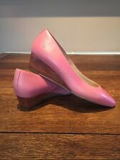 Ladies Pink Wedge Shoes Size 4