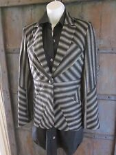 L.A.M.B. GWEN STEFANI Fall 2008 WOOL BLACK Striped JACKET BLAZER Size 8