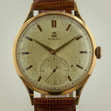 Omega Vintage, Mens, 18K Rose Gold, Manual Wind, Cal 266, Leather Band