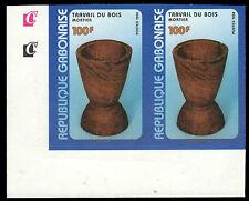 """GABON 930P (Mi1425P) - Wooden Mortier Cup """"Imprimateur Proof"""" (pf54055)"""