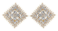 CLIP ON EARRINGS - gold plated stud earring with clear crystals - Alex