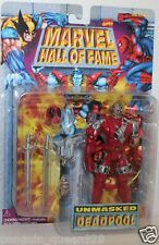 Marvel Hall of Fame - Unmasked Deadpool Action Figure RARE VNTG