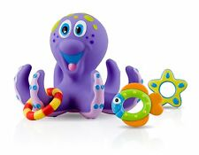 Nuby Octopus Floating Bath Toy Multi-Coloured Kids Rubber Bathing Water UK Xmas