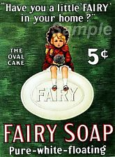 VINTAGE FAIRY SOAP ADVERTISING A4 POSTER PRINT