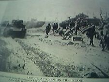magazine picture - world war two ww2 - leyte island  american troops going ashor
