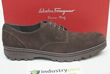 NIB SALVATORE FERRAGAMO PICASSO OXFORD Bitter Choco. Brown Suede 10.5 shoes