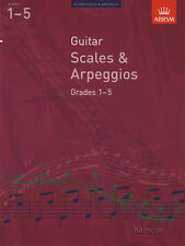 Guitar Scales & Arpeggios Grades 1-5 ABRSM Classical Guitar Exam Music Book