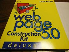MACMILLAN WEB PAGE 5.0 CONSTRUCTION KIT USER GUIDE WITH CD WINDOWS 95/98 OR NT 4