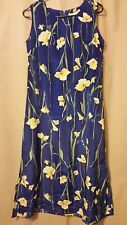 NEW GEAR Ladies Blue with Yellow Flowers Sleeveless Polyester Ladies Small Dress