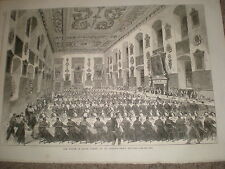 Prince Edward of Wales Dining St Barts Hospital London 1868 print ref Z1