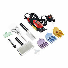RED Professional Electric Pet Dog Grooming Kit Animal Hair Trimmer Clipper UK
