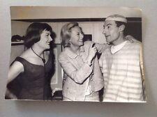 MICHÈLE MORGAN, son Frère et Colette Renard  -Photo de presse originale 18x13cm