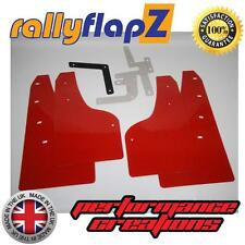 Rally Style Mudflaps to fit FORD FOCUS ST MK3 ST250 (2012) Mud Flaps Red 3mm PVC