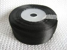 """15 yards Of 24 mm (1"""") Satin Ribbon Rolls Many Colours Free P&P"""