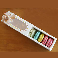 10 sets chocolate cookie Macaron Cupcake Container with window