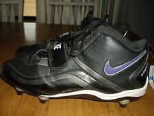 EUC Mens Size 13 Nike Team Code Zoom Black Football Cleats New Cleats with