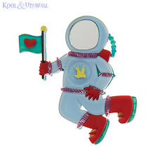 Dramatic MAJOR TOM Astronaut Resin Brooch by Erstwilder * Science Fiction