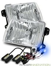 10000K HID For 98-00 Frontier/00-01 Xterra Aftermarket Crystal Headlights Chrome