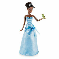 "NEW Disney Store Princess & The Frog Tiana Classic 12"" Doll Naveen Frog Figure"