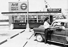 "5x7"" photo A&W ROOT BEER DINER BURGER JOINT 50'S CARHOP MAMA PAPA BABY BURGERS"