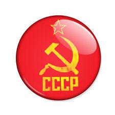 Badge CCCP - FAUCILLE et MARTEAU rouge jaune soviet communisme communiste Ø25mm