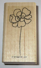 Flower Carnation Rubber Stamp Stampin' Up! Wood Mounted Petals Floral Mums New
