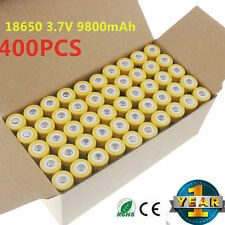 400pcs 18650 3.7V 9800mAh Yellow Li-ion Rechargeable Battery Cell For Torch EKN