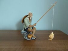 CHINESE POTTERY MUDMAN FISHERMAN - RARE VINTAGE FIND