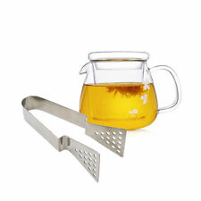 Stainless Steel Tea Bag Squeezer Strainer Holder Grip Easy Squeeze Metal Tongs