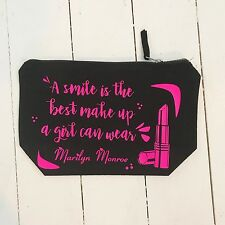 A smile is the best make up a girl can wear marilyn monroe bag personalised