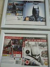 Batman arkham city & origins ps3 sleeves Wall mounted Framed