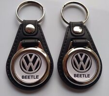 VOLKS WAGON BEETLE KEYCHAIN FOB 2 PACK VW LOGO