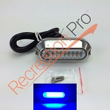 "3.5"" BLUE W/ 316SS COVER 24 LED UNDERWATER PONTOON BOAT TRANSOM LIGHT"