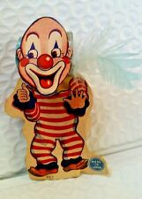 """Vintage Party Blowout """"Clown with Blue Feather"""" Japan ~ Ray Rohr Cosmic Artiacts"""