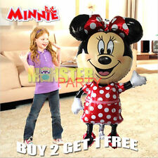 "jumbo 44"" Mickey Minnie Mouse Birthday Party Balloons Balloon Red Bow Tie"