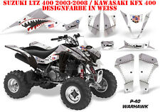 Amr racing decoración Graphic kit ATV suzuki ltz & Kawasaki KFX p40 Warhawk B