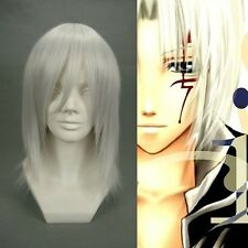Hot sell ! NEW Riku Silver Grey Medium Long Layered Cosplay Wig free shipping