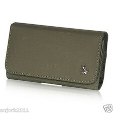 GRAY LEATHER CASE BELT CLIP HORIZONTAL POUCH SAMSUNG GALAXY SIII 3 SII 2