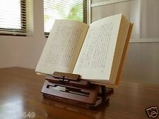 F/S Portable Folding Book Rest Stand Rack Holder Ipad Tablet Wooden Made in JPN