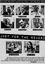 Just For The Record [DVD], Very Good DVD, Jamie Foreman, Philip Davis, Victoria