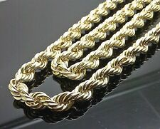 "10K Yellow Gold Thick Rope Chain 28"", 9mm #A26B0 Franco, Miami, Cuben"
