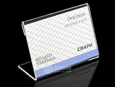 20pcs Acrylic Sign Display Holder Price Name Card Tag Label Stand 55x85mm