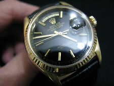 RARE ROLEX DAY DATE PRESIDENT 1803 18K SOLID YELLOW GOLD WATCH OYSTER PERPETUAL