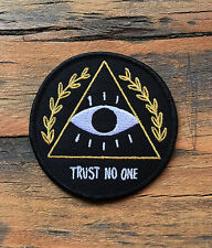Trust No One Letter Patches Embroidered Applique Sew Iron On Patch Fabric Badge